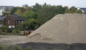 Photo taken of crushed stone stockpile on 3rd Oct 2015.