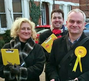 Isabel Brazil, Sebastian Field and Jeremy Hilton campaigning in Kingsholm & Wotton