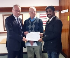 Receiving petition from local residents
